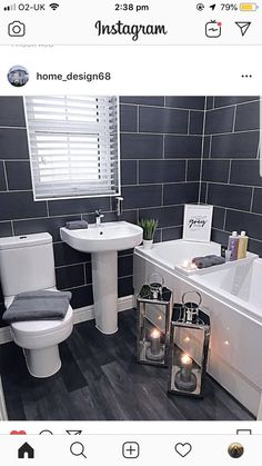 Powder Room, Toilet, Projects To Try, Interior Design, Bathroom Ideas, Porch, Bathrooms, Empire, House Ideas