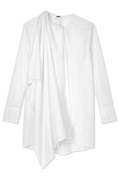 """Shirting is that classic thing that never, quite, goes away. The """"deconstructed"""" trend has started to make an appearance, and next step is its big starring role.  Adam Lippes tunic, $690, shopBAZAAR.com.   - HarpersBAZAAR.com"""