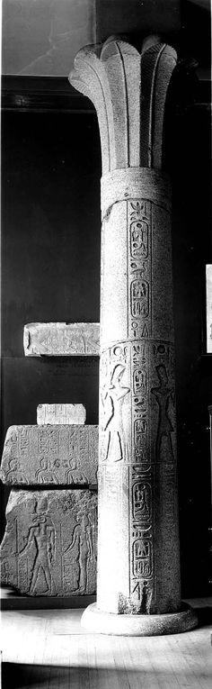 Palm-capital column | Museum of Fine Arts, Boston