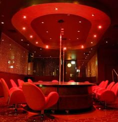 I like the ceiling light, even if though it's a strip club.