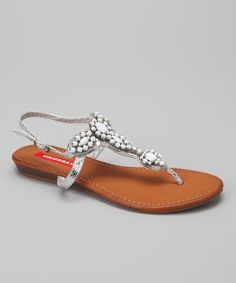 Take a look at this White Cabanna Sandal by UNIONBAY on #zulily today!  $19.99, regular 50.00