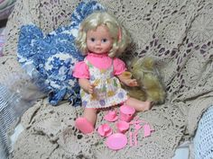 Timey Tell Doll and Some of Her Accessory's by Daysgonebytreasures