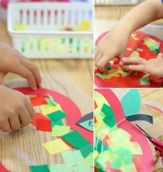To make apple, the children need the help of adults - Diy and Crafts Toddler Play, Toddler Crafts, Preschool Crafts, Hobbies For Kids, Hobbies And Crafts, Diy And Crafts, Projects For Kids, Diy For Kids, Crafts For Kids