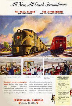Pennsylvania Railroad Blazer New York - www.MadMenArt.com features over 400…                                                                                                                                                                                 More