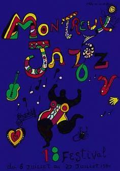 18th Montreux Jazz Festival (Switzerland) Jazz Poster, Jean Tinguely, Matisse, Montreux Jazz Festival, Friedensreich Hundertwasser, French Sculptor, Piet Mondrian, Festival Posters, Pop Art