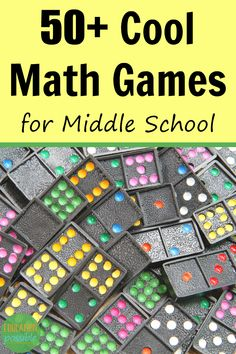 Show middle school students that math can be fun by taking a break from the math lessons and playing some games instead. These 50+ cool math games will teach and challenge your junior high students. #mathgames #middleschool #mathisfun #educationpossible Middle School Games, Middle School Classroom, Middle School Science, Math Classroom, Math School, Math Math, Math Teacher, Multiplication, School Fun