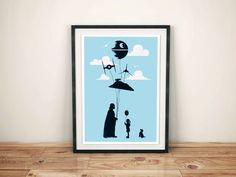 Vader Airballons parody. #starwars #geek #humor #parody #goldenplanetprints #wallart #posterart #poster