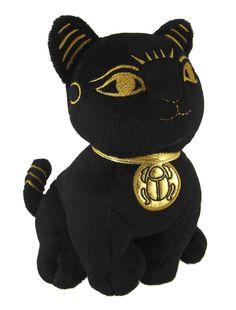 Amazon.com: Black Egyptian Cat Goddess Bastet Plush Figure Bast: Toys & Games