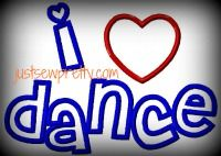 I Heart Dance Applique