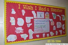Reading: I Wish I Had a Monster Bulletin Board