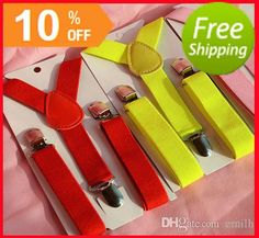 DHL Free Kids Toddlers Suspender Clip-on Y-Back Boys & Girls Children Elastic Wedding Suspender Party Suspenders Many Colors Online with $46.08/Piece on Emilh's Store | DHgate.com