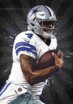 Dak Prescott Dallas Cowboys Nfl Nfl poster by TroutLifeStudio