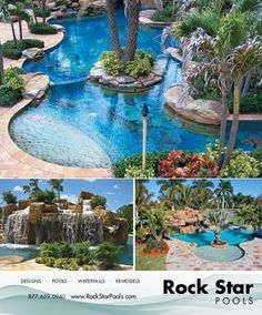 amazing pool - I will have one someday. With a Grato! Natural Swimming Pools, Swimming Pools Backyard, Swimming Pool Designs, Spas, Porches, Pool Picture, Tropical Pool, Backyard Paradise, Beautiful Pools