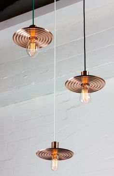 These are super cool, and combo of Modern design, with a leaning towards the Industrial Era with twisted cord and Edison old style bulbs.. Volker's ULO pendant
