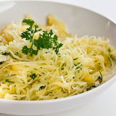 Baked Spaghetti Squash with Garlic and Butter @keyingredient #cheese
