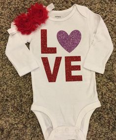 A personal favorite from my Etsy shop https://www.etsy.com/listing/261437820/valentines-day-onesie-1st-valentines-day