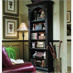 Shop for Hooker Furniture Black Bookcase, and other Home Office Bookcases at McCreerys Home Furnishings in Sacramento, CA. Black Bookcase, 5 Shelf Bookcase, Wooden Bookcase, Bookcase Styling, Diy Bookcases, Decorating Bookshelves, Book Shelves, Hooker Furniture, Home Office Furniture