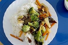 Pilz - Gemüse im Wok