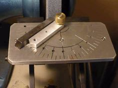 Lathe Tool Sharpening Jig by David Morrow -- Homemade lathe tool sharpening bit constructed from steel plate, bar stock, threaded rod, and a brass knob. http://www.homemadetools.net/homemade-lathe-tool-sharpening-jig-5