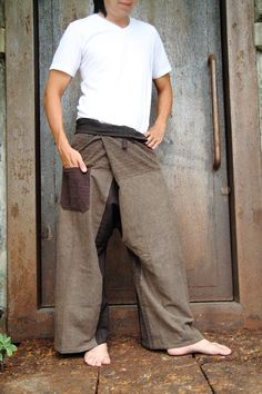 Thai Fisherman Pants. $35.00, via Etsy. These would look good on a boyfriend.