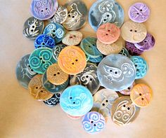 40 Handmade Buttons Large Assortment of Earthy by beadfreaky, $40.00