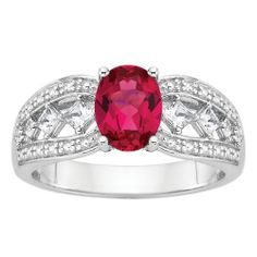Fred Meyer Jewelers | Created Ruby and White Sapphire Fashion Ring 1393735