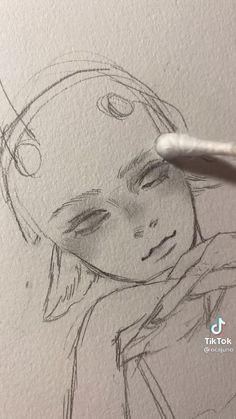 Drawings Of Eyes, Anime Eyes Drawing, Drawing Heads, Art Drawings Sketches Simple, Pencil Art Drawings, Cool Drawings, How To Draw Eyes, How To Draw Anime, Drawing Tutorials