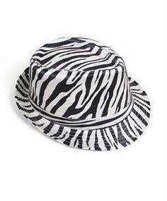 7d515b0dc60 Fedora Hat - Zebra 6pc HT0302