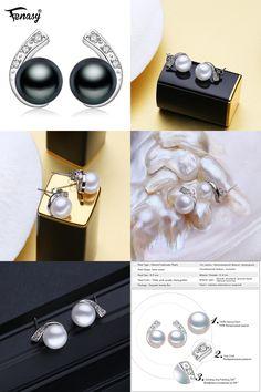 [Visit to Buy] FENASY pearl earrings,2017 new natural Pearl earring, earrings for women,vintage fashion pearl Jewelry stud earrings,jewelry box #Advertisement