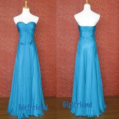 prom dress prom dress #evening blue chiffon dress #coniefox #2016prom