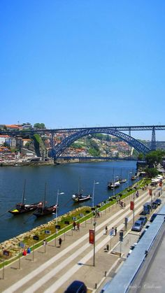 Walking by the Douro river near the Atlantic Ocean, Porto, Visit Portugal, Portugal Travel, Funchal, Gaia, Porto City, Douro, Port Wine, What A Wonderful World, Countries Of The World