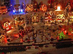 Christmas village made in USA | Christmas village at night close-up | Flickr - Photo Sharing!