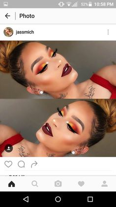 Gorgeous Makeup: Tips and Tricks With Eye Makeup and Eyeshadow – Makeup Design Ideas Flawless Makeup, Glam Makeup, Gorgeous Makeup, Pretty Makeup, Love Makeup, Skin Makeup, Eyeshadow Makeup, Makeup Tips, Beauty Makeup