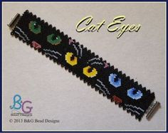 CAT EYES Peyote Cuff Bracelet Pattern