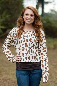 Cropped Leopard Sweater $30 shop at www.retrodarlingclothes.com or find us on Facebook
