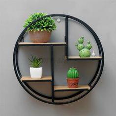Craft Shelves, Wall Storage Shelves, Wall Shelf Decor, Diy Hanging Shelves, Wall Racks, Metal Shelves, Storage Racks, Hanging Storage, Wood Wall Shelf