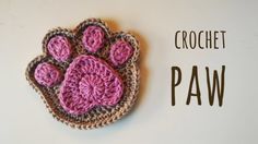 How to crochet a supercute paw print, My Crafts and DIY Projects