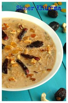 Sheer khurma Sheer Khurma, Eid Prayer, Eid Eid, Indian Sweets, Morning Breakfast, Indian Food Recipes, Oatmeal, Dishes, Yum Yum