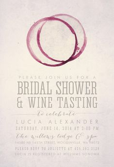 WINE TASTING Bridal Shower Invitation Printable by HENANDCO