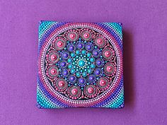 Original mini Mandala Canvas