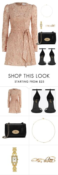 """Untitled #2968"" by briarachele on Polyvore featuring Zimmermann, Yves Saint Laurent, Mulberry, Loren Stewart, Gucci and GUESS"