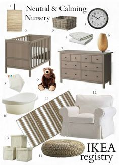 Neutral and Calming Nursery - Everything from IKEA! --BabyList