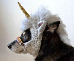Esta confortable máscara de unicornio: