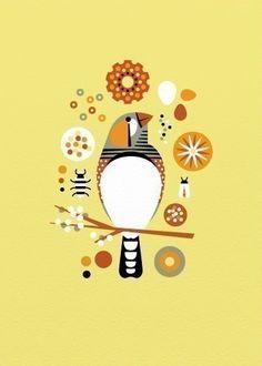 Zebra Finch art print by Bee Things    I love small birds. Jesus. Finch love.