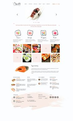 Sushi - wordpress theme by *webvilla on deviantART
