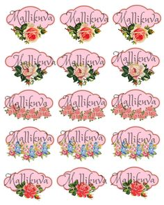 Rose labels printables by ZaraTreasures on Etsy