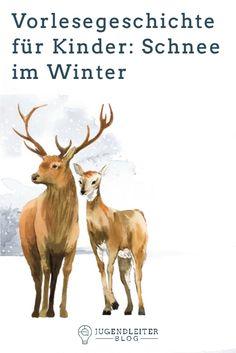 Vorlesegeschichte für Kinder: Schnee im Winter In Kindergarten, Advent, Moose Art, Blog, Movies, Movie Posters, Animals, Waiting, Day Care