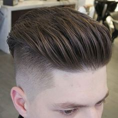 Disconnected Undercut with Long Textured Slick Back - Men Hairstyles Undercut 101 - Beauty Side Swept Hairstyles, Long Bob Hairstyles, Undercut Hairstyles, Formal Hairstyles, Top Haircuts For Men, Popular Haircuts, Boy Haircuts, Undercut Men, Undercut Pompadour