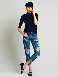 Free People Awesome Destroyed Baggies, $158.00