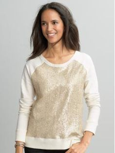 Love the sparkles. I want to pair this with dark jeans and little gold stud earrings and cute shoes. (Or just with leggings and slippers at home!)